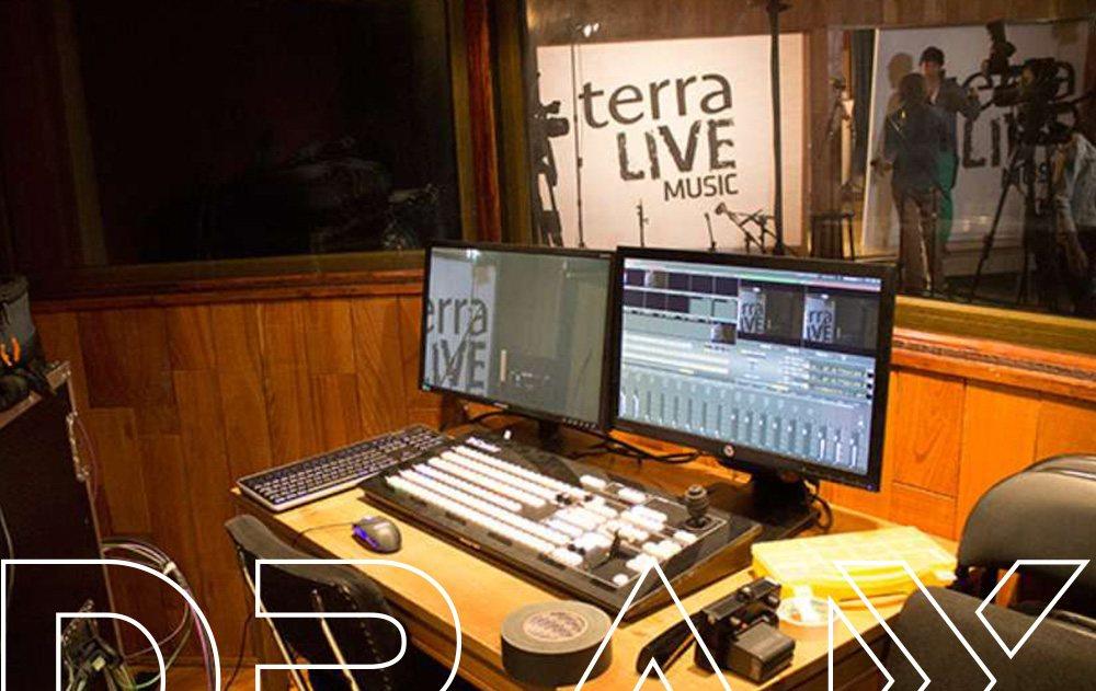Control de realizacion Terra Live. DRAX audio Madrid